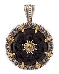 Konstantino | Metallic Carved Onyx Pendant | Lyst
