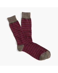 J.Crew | Red Triple-stripe Socks for Men | Lyst