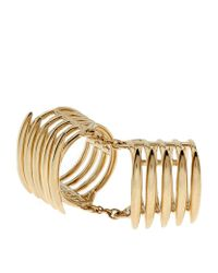 Shaun Leane - Metallic Silver And Gold Vermeil Long Finger Quill Ring - Lyst