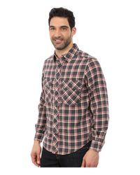 Woolrich | Gray Miners Wash Flannel Shirt for Men | Lyst