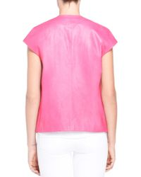 J Brand - Pink Eberhardt Leather Vest - Lyst