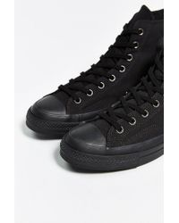 Converse - Black Chuck Taylor All Star 70S Mono High-Top Sneaker for Men - Lyst