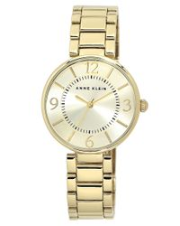 Anne Klein   Metallic Ladies Goldtone Bracelet Watch   Lyst