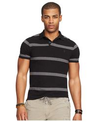 Polo Ralph Lauren | Gray Classic-fit Striped Mesh Polo Shirt for Men | Lyst