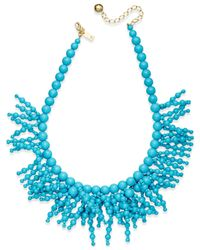 Kate Spade | Blue Fringe Appeal Beaded Necklace | Lyst