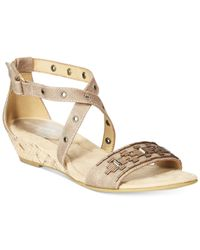 Easy Spirit | Brown Malvina Studded Sandals | Lyst