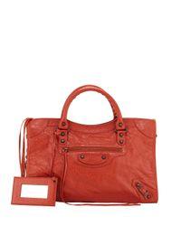 Balenciaga - Orange Classic City Bag - Lyst