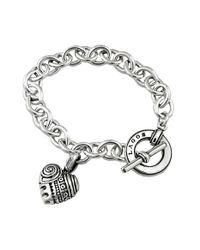 Lagos | Metallic 'hearts Of ' Charm Bracelet | Lyst
