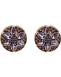 Ileana Makri - Metallic Deco Flower Stud Earrings - Lyst