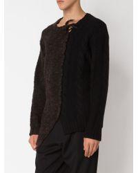 Yohji Yamamoto - Brown Asymmetric Chunky Knit Sweater for Men - Lyst