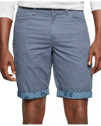 Calvin Klein Jeans | Blue Printed-trim Shorts for Men | Lyst