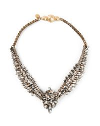 Shourouk - Metallic 'Tabatha Comet' Necklace - Lyst