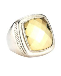 David Yurman - Metallic Pre-owned: Sterling Silver 20mm Albion Ring With 18ky Gold Dome - Lyst