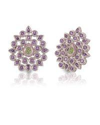 Vara Of London | Purple The Silver Fleur De Chine Ring | Lyst