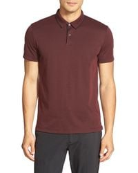 Theory - Red 'sandhurst' Slim Fit Pique Polo for Men - Lyst