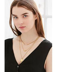 Urban Outfitters | Metallic For Keeps Crystal Layering Necklace | Lyst