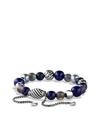 David Yurman | Blue Spiritual Bead Bracelet, 8mm | Lyst