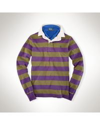 Polo Ralph Lauren - Natural Slimfit Striped Rugby for Men - Lyst