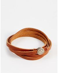 Royal Republiq | Brown Leather Wrap Bracelet for Men | Lyst