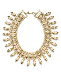 Tory Burch | Metallic Candelaria Bib Necklace | Lyst