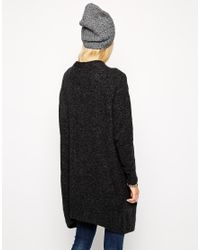 G-Star RAW - Gray Longline Cardigan - Lyst