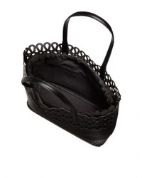 DKNY - Black Perforated Leather Shopper - Lyst