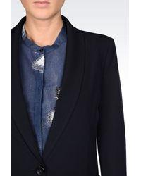 Armani Jeans - Blue Jacket In Viscose Blend - Lyst