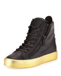 Giuseppe Zanotti - Black Men's Leather High-top Sneaker for Men - Lyst