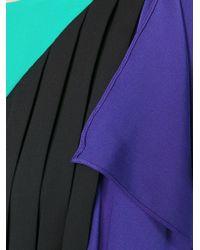 Vionnet - Multicolor Pleated Detail Panelled Dress - Lyst