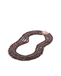 David Yurman | Black Dy Bead Necklace In Rose Gold | Lyst