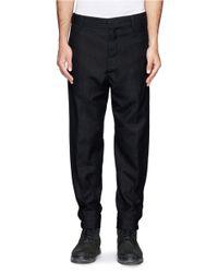 Ann Demeulemeester - Black Fleecewool-blend Pants for Men - Lyst