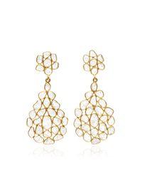 Kirat Young | Metallic Sliced Diamond Earrings | Lyst