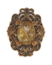 Stephen Dweck - Metallic Bronze Oval Rutilated Quartz Ring - Lyst