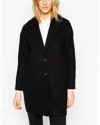ASOS - Ultimate Cocoon Coat - Black - Lyst