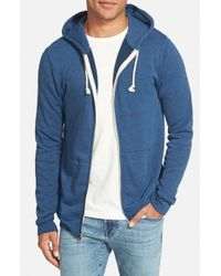 Threads For Thought - Blue Trim Fit Heathered Hoodie for Men - Lyst