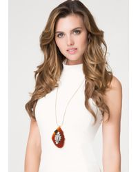 Bebe | Red Stone Pendant Necklace | Lyst