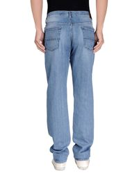 Fay - Blue Denim Trousers for Men - Lyst