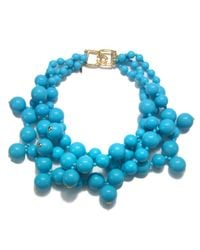 Kenneth Jay Lane | Blue Turquoise Cluster Necklace | Lyst