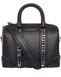 Givenchy | Black Patent Leather Pandora Bag | Lyst