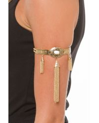 AKIRA | Metallic Around The River Bend Arm Bracelet - Gold | Lyst
