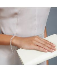 Astley Clarke - Pink Silver Heart Friendship Bracelet With Diamond And Rose Quartz - Lyst
