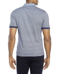 Original Penguin | Blue Heritage Slim Fit Stripe Polo for Men | Lyst
