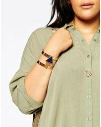 ASOS - Blue Sleek Cuff Bracelet - Lyst