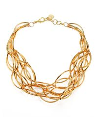 Nest | Metallic Twisted Collar Necklace | Lyst