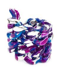 Gemma Redux - Blue Large Chain Ring - Lyst