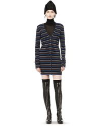 Alexander Wang | Blue Fitted Merino Cardigan | Lyst