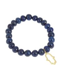 Lord & Taylor | Blue Hamsa Beaded Bracelet | Lyst