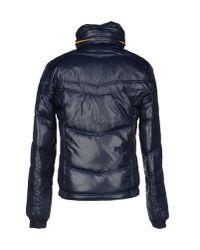 DIESEL - Blue Down Jacket for Men - Lyst