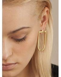 Danielle Foster - Metallic Gold Long 'd' Earring - Lyst