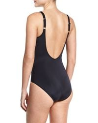 Gottex - Black Crystal Clear Square-neck One-piece Swimsuit - Lyst